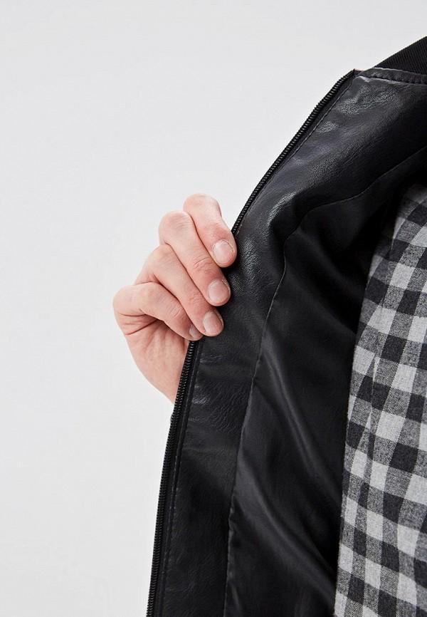 Winterra | черный Мужская черная кожаная куртка Winterra | Clouty