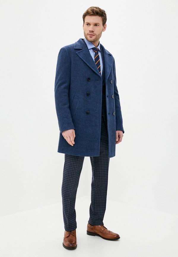Caravan   синий Мужское синее пальто Caravan   Clouty