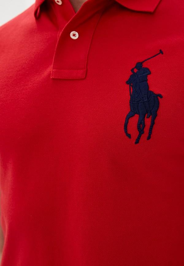 POLO RALPH LAUREN | красный Мужское красное поло POLO RALPH LAUREN | Clouty