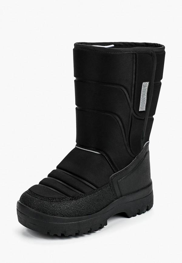 Biker | черный Зимние черные сапоги Biker термопластиковая резина для мальчиков | Clouty
