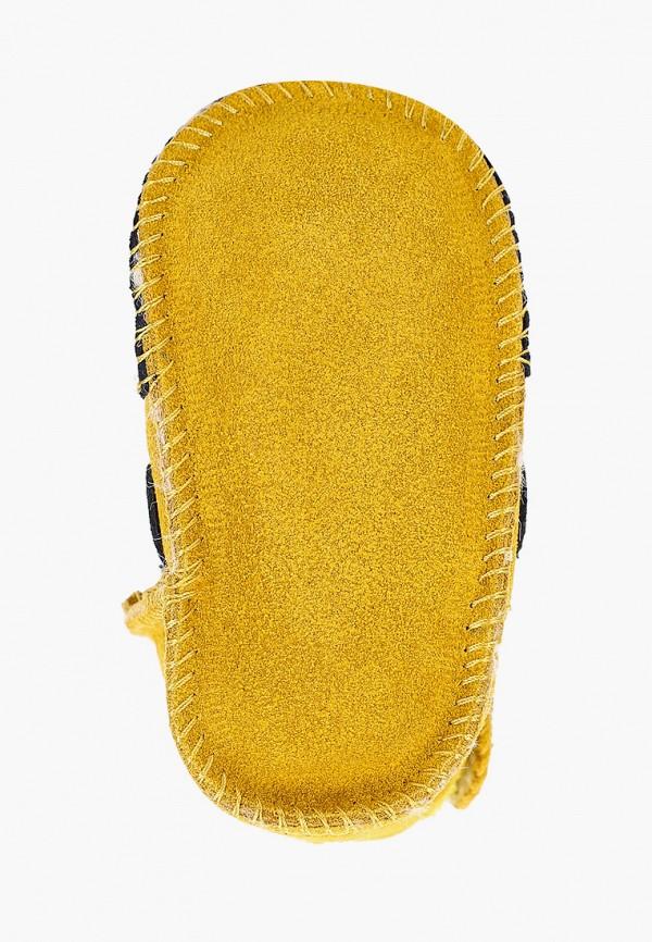 Vitacci | желтый Зимние желтые пинетки Vitacci натуральная кожа для мальчиков | Clouty
