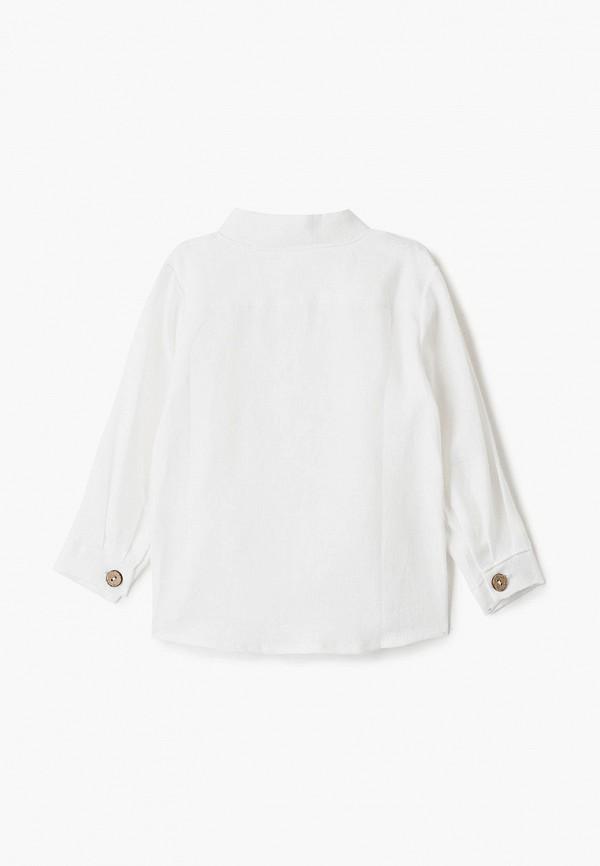 Лапушка   белый Белая рубашка Лапушка для мальчиков   Clouty