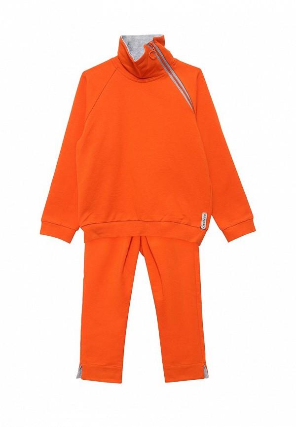 Coockoo | Оранжевый костюм спортивный Coockoo для младенцев | Clouty