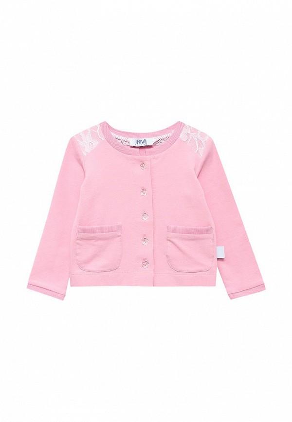 Irmi | Розовый кардиган Irmi для девочек | Clouty