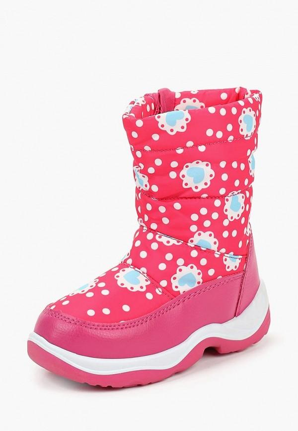 Honey Girl   розовый Зимние розовые дутики Honey Girl ПВХ для девочек   Clouty