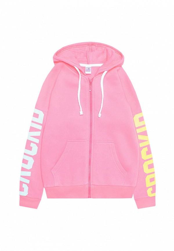 Crockid | розовый Розовая толстовка Crockid для девочек | Clouty