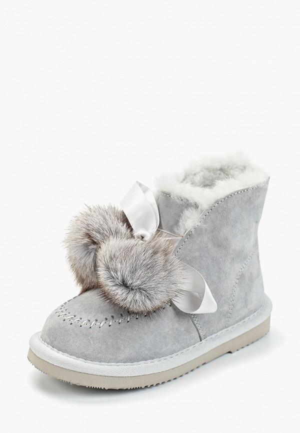 Vitacci | серый Зимние серые ботинки Vitacci термополиуретан для девочек | Clouty
