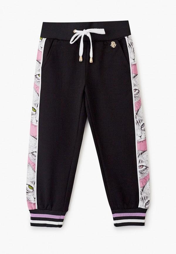 Stefania Pinyagina   черный Черные спортивные брюки Stefania Pinyagina для девочек   Clouty