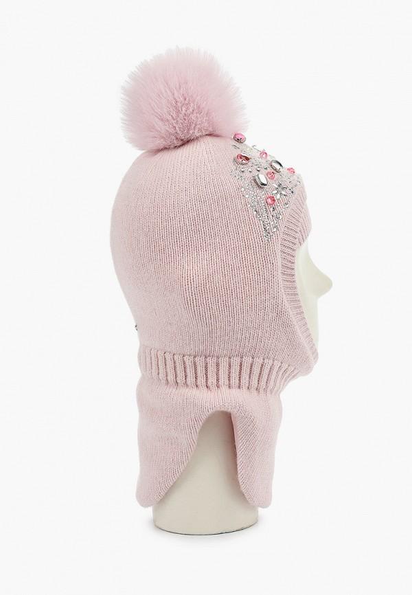 Aleksa | розовый Зимняя розовая балаклава Aleksa для девочек | Clouty
