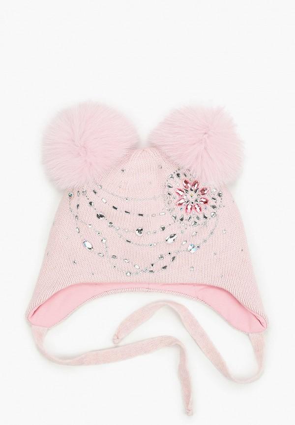 Aleksa | розовый Зимняя розовая шапка Aleksa для девочек | Clouty