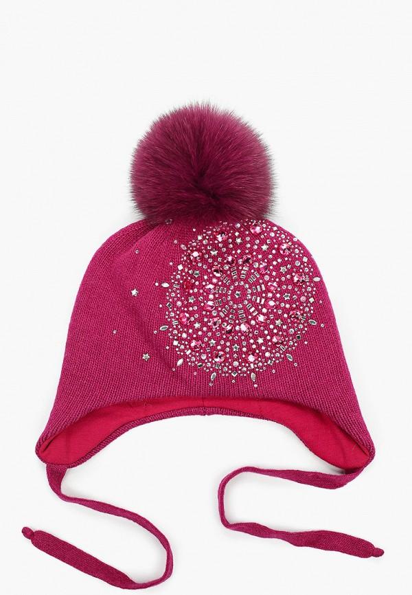 Aleksa   розовый Зимняя розовая шапка Aleksa для девочек   Clouty