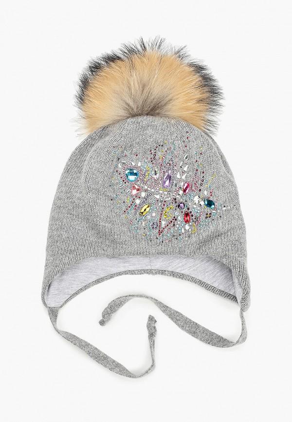 Aleksa | серый Зимняя серая шапка Aleksa для девочек | Clouty