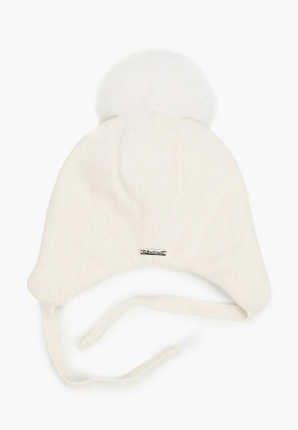 Aleksa   белый Зимняя белая шапка Aleksa для девочек   Clouty