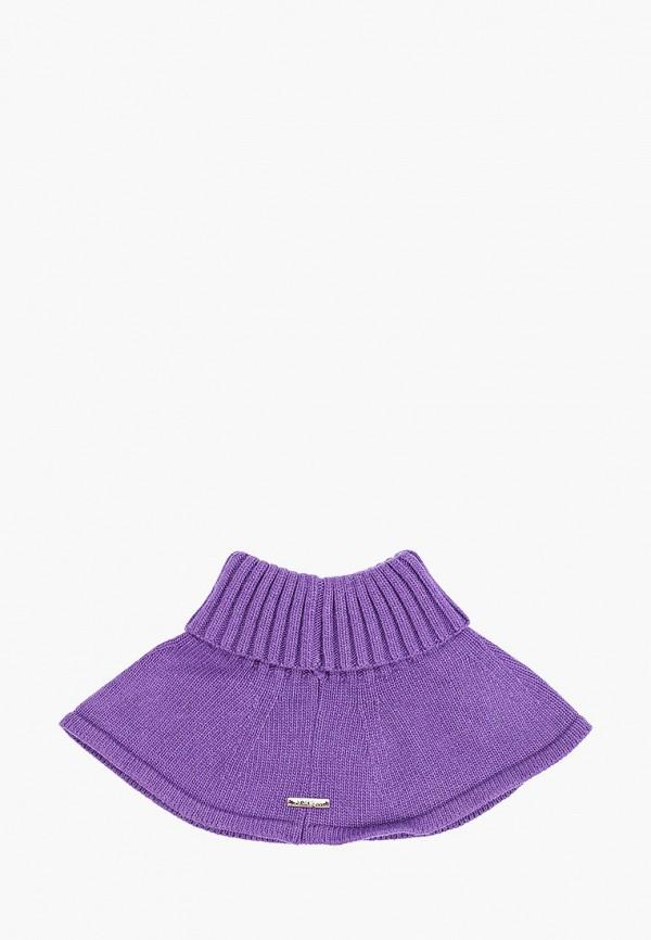 Aleksa   фиолетовый Зимняя фиолетовая манишка Aleksa для девочек   Clouty