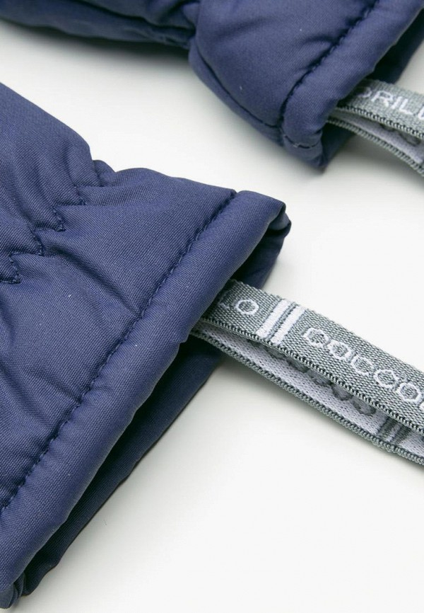 Coccodrillo   синий Зимние синие варежки Coccodrillo для девочек   Clouty