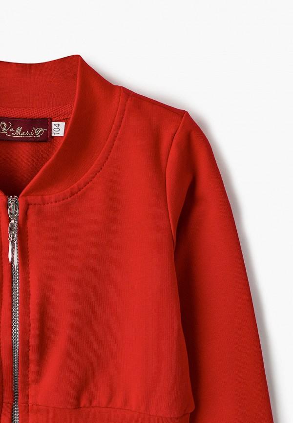 Sava Mari | Летний красный олимпийка Sava Mari для девочек | Clouty