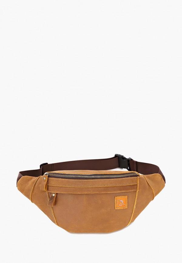 Ginger Bird | коричневый Коричневая поясная сумка Ginger Bird | Clouty