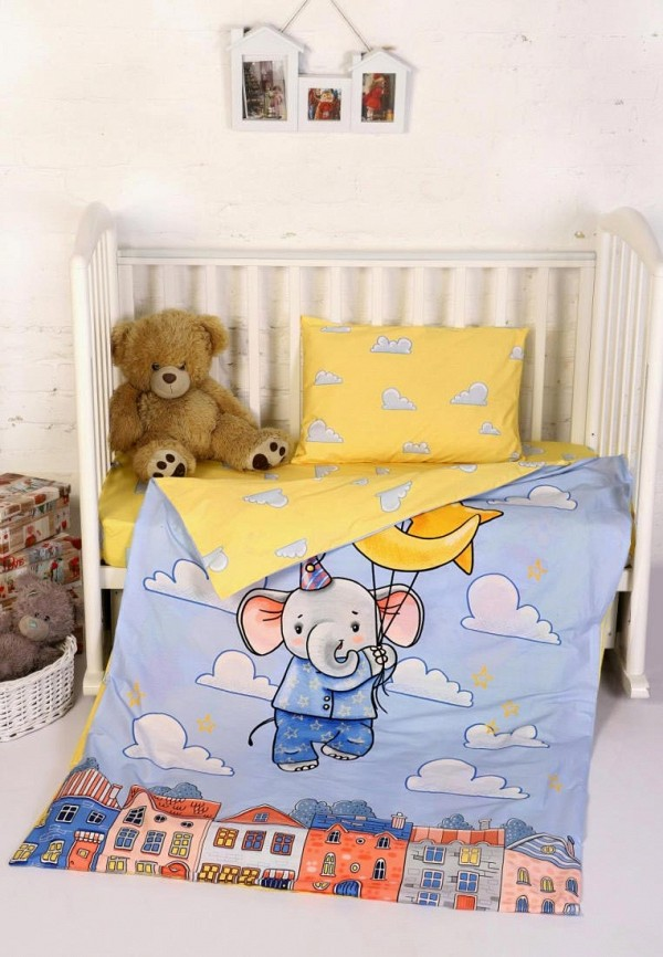 Текстильная лавка | голубой, желтый Детское постельное белье Текстильная лавка | Clouty