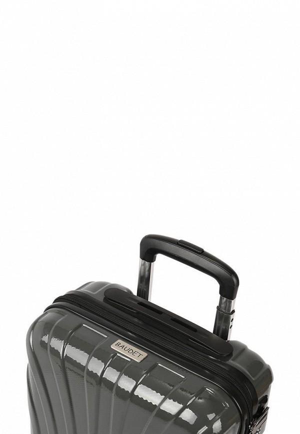 Baudet | Серый чемодан Baudet | Clouty