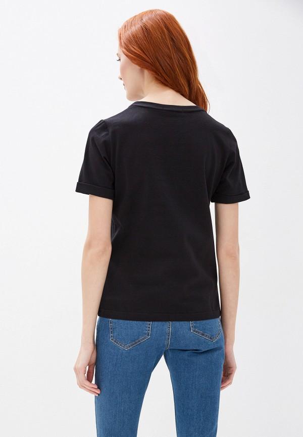 Fashion.Love.Story | черный Женская черная футболка Fashion.Love.Story | Clouty
