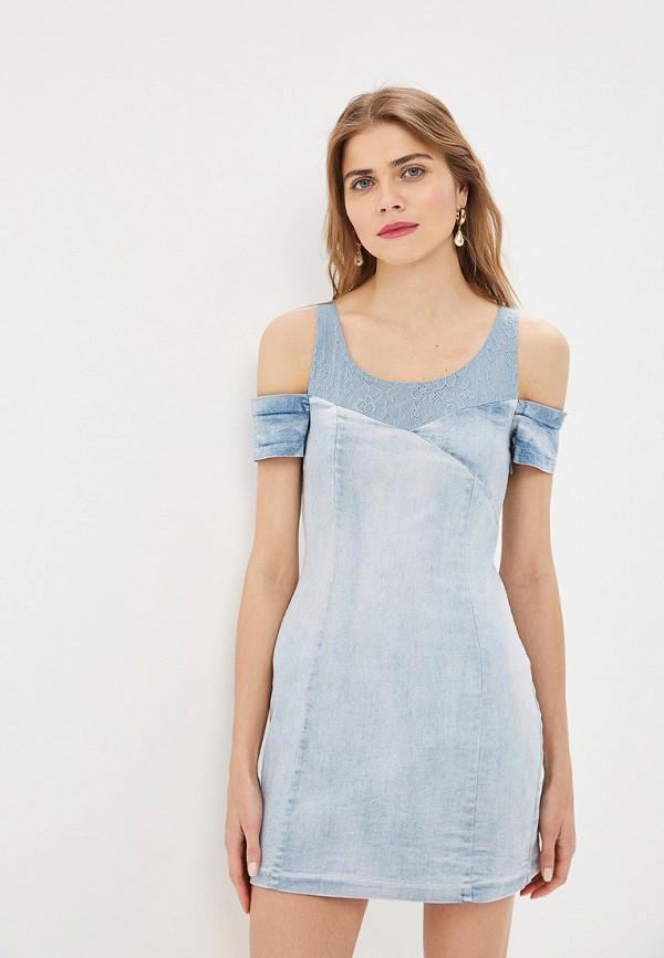 LOVE REPUBLIC | голубой Летнее голубое джинсовое платье LOVE REPUBLIC | Clouty