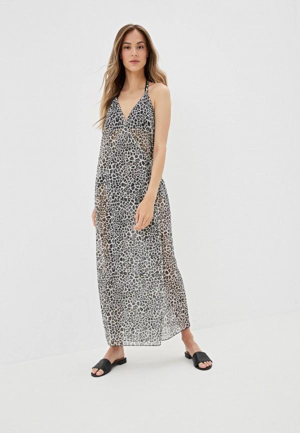 Amarea | серый Женское летнее серое пляжное платье Amarea | Clouty