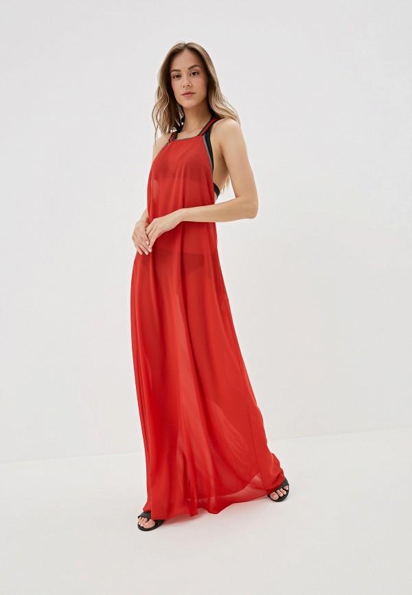 Amarea | красный Женское летнее красное пляжное платье Amarea | Clouty