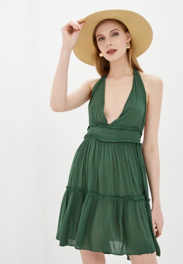 Calzedonia   зеленый Зеленое пляжное платье Calzedonia   Clouty