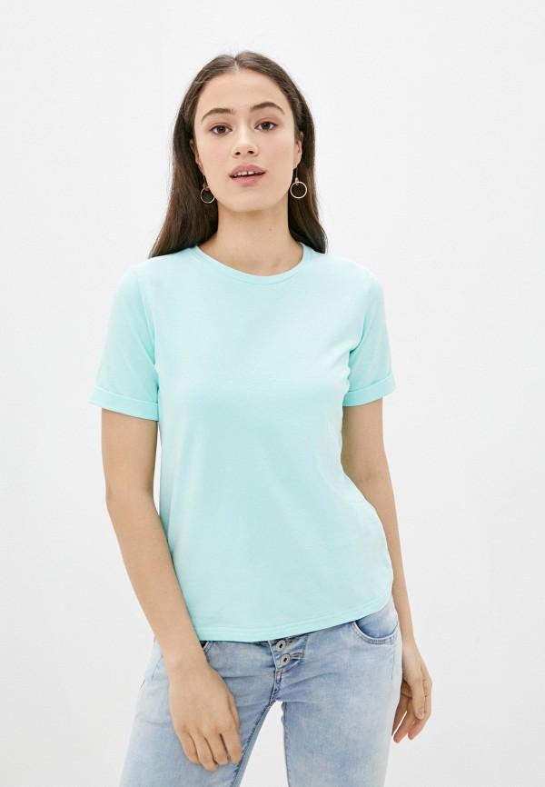 Fashion.Love.Story | бирюзовый Женская бирюзовая футболка Fashion.Love.Story | Clouty