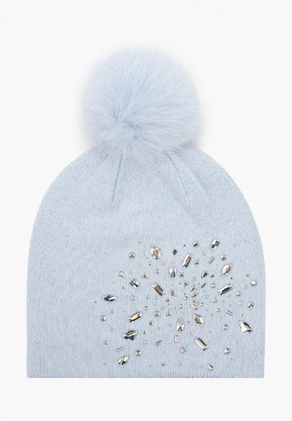 Aleksa | голубой Женская зимняя голубая шапка Aleksa | Clouty