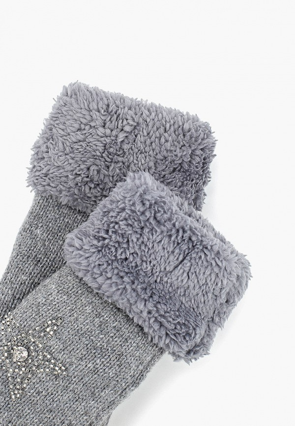 Pur Pur | серый Женские зимние серые варежки Pur Pur | Clouty