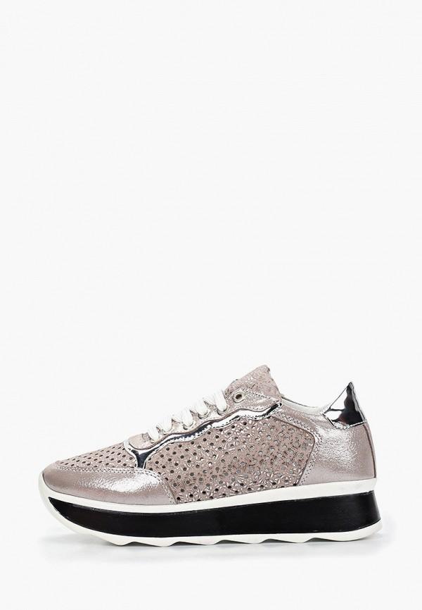 Clovis | серый Женские серые кроссовки Clovis искусственный материал | Clouty