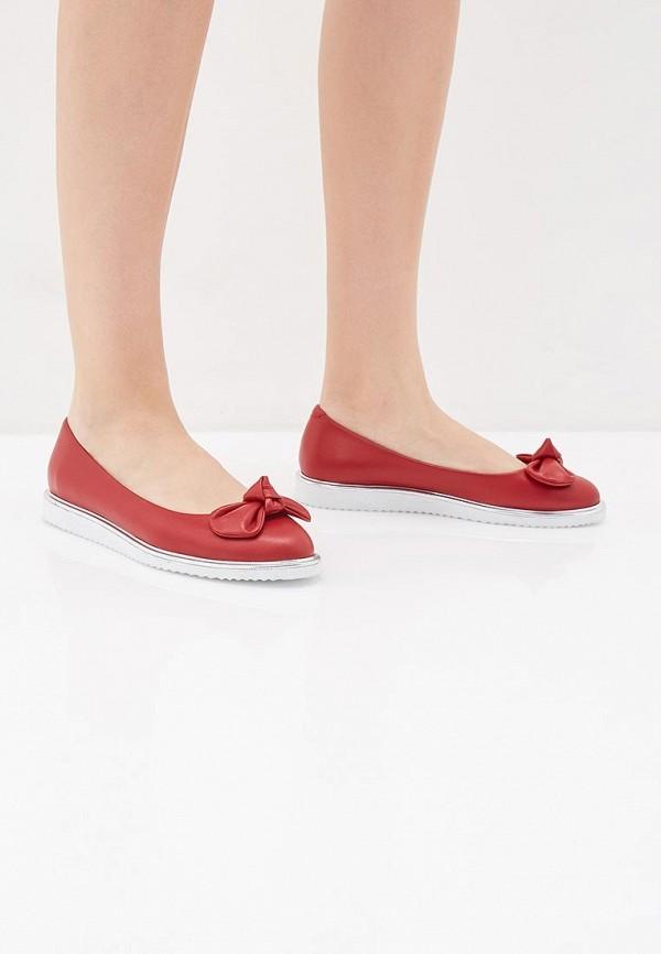 Clovis | красный Женские красные балетки Clovis искусственный материал | Clouty