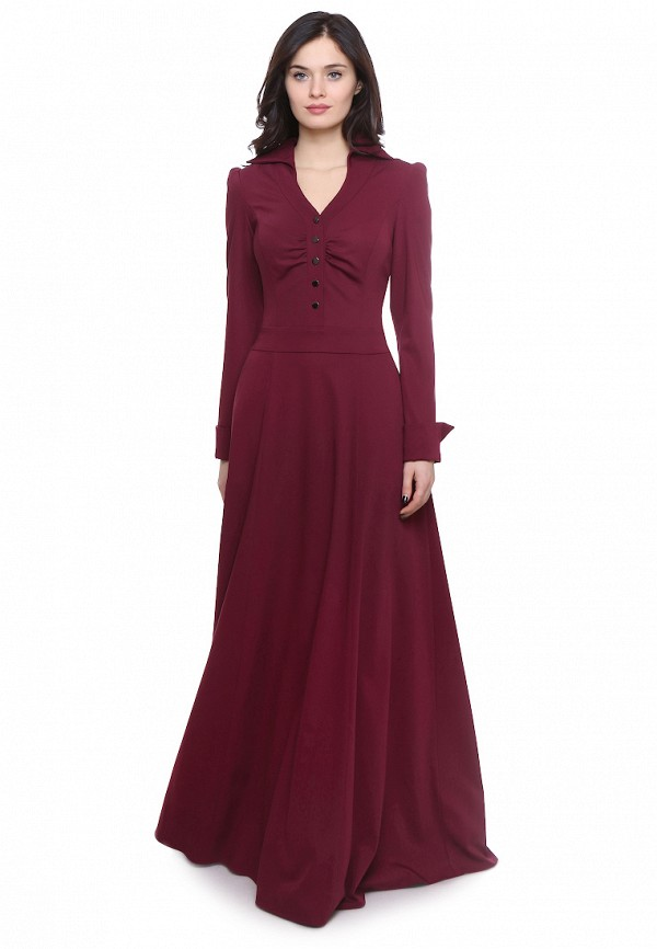 Olivegrey | бордовый Женское бордовое платье Olivegrey | Clouty
