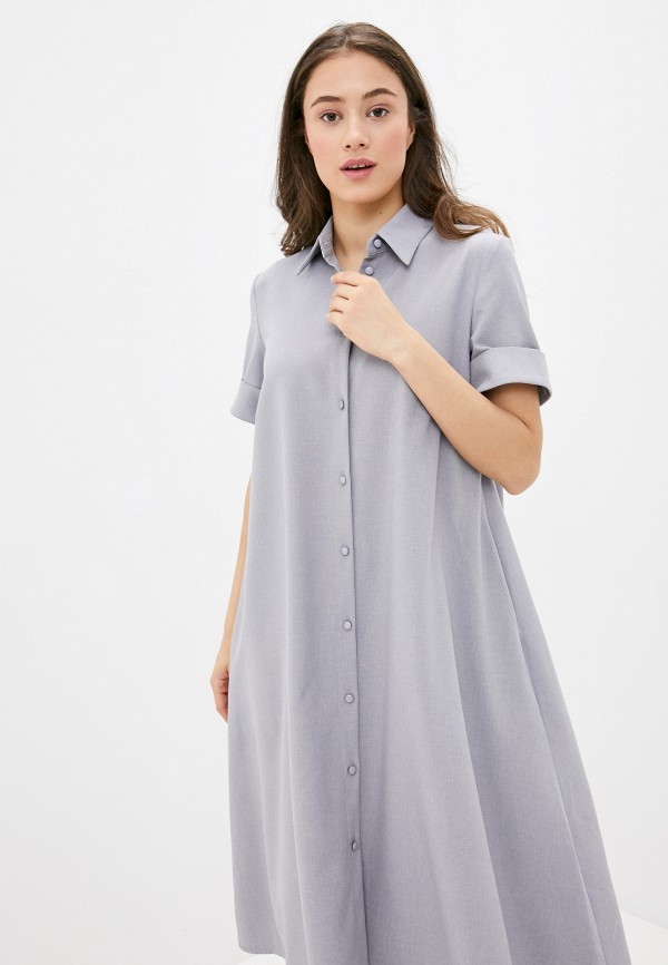 Alina Assi | серый Женское серое платье Alina Assi | Clouty