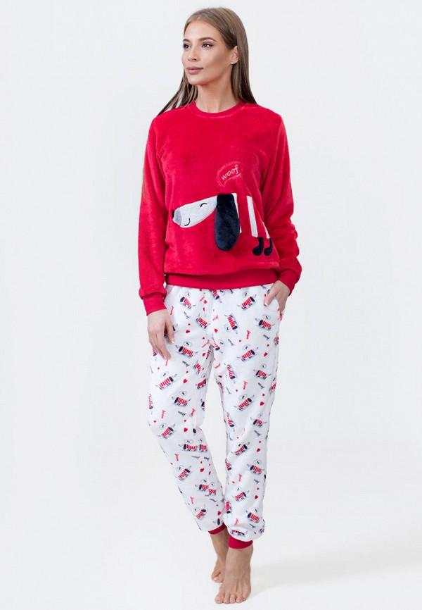 Vienetta | белый, красный Женский домашний костюм Vienetta | Clouty