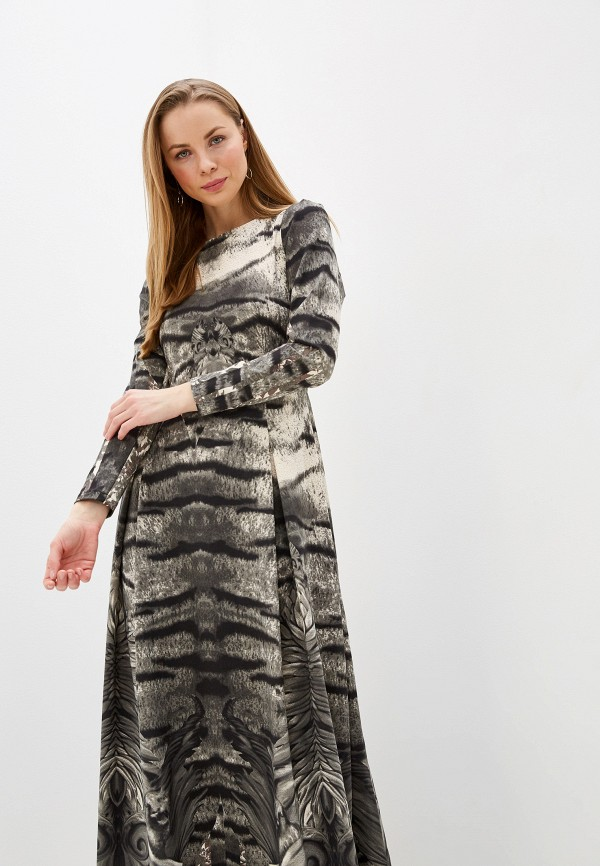 Sahera Rahmani   серый Платье Sahera Rahmani   Clouty