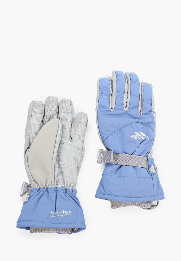 Trespass | голубой Женские голубые горнолыжные перчатки Trespass | Clouty