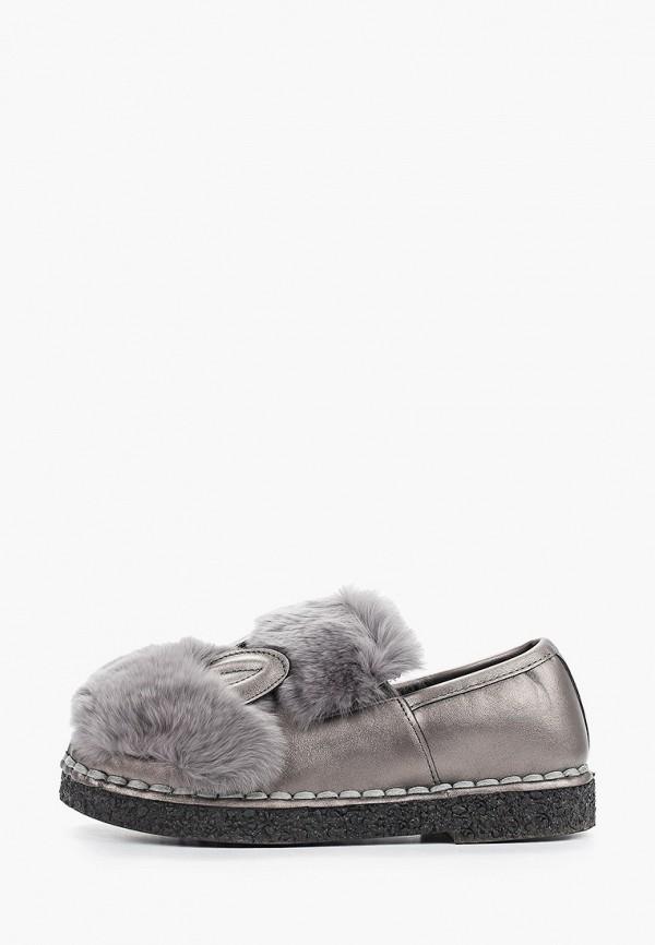 Brazi   серый Женские серые ботинки Brazi резина   Clouty