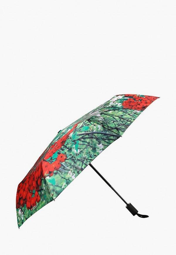 Flioraj   Женский зеленый складной зонт Flioraj   Clouty