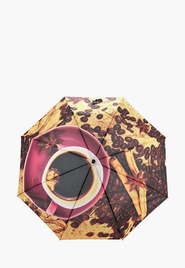 Flioraj | коричневый Зонт складной Flioraj | Clouty