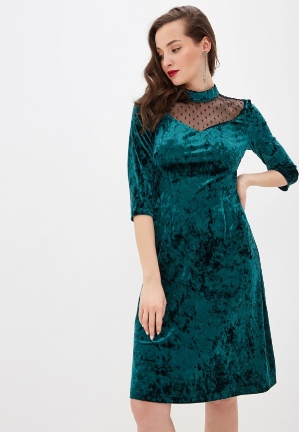 Rodionov   бирюзовый Платье Rodionov   Clouty
