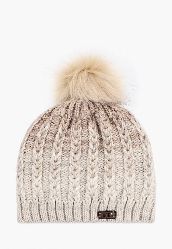 Jagga | бежевый Женская зимняя бежевая шапка Jagga | Clouty
