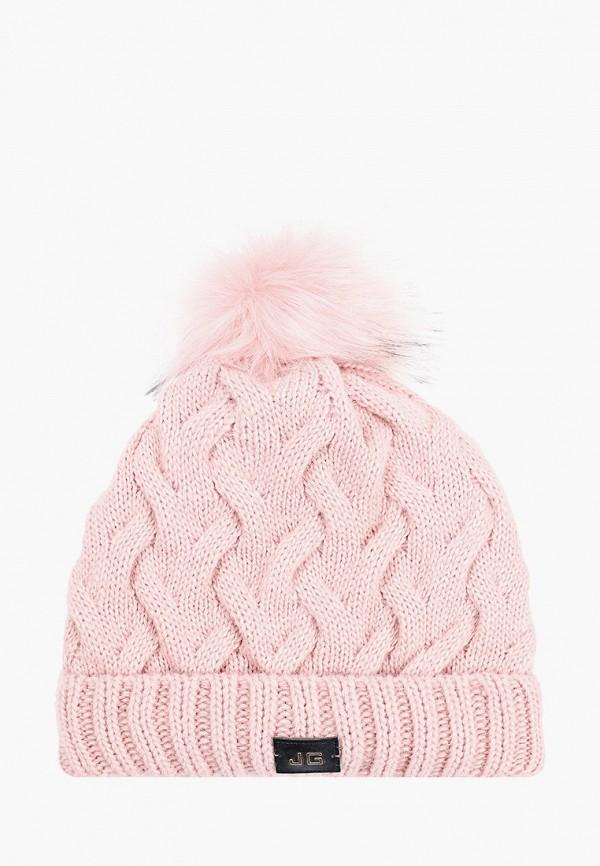 Jagga   розовый Женская зимняя розовая шапка Jagga   Clouty