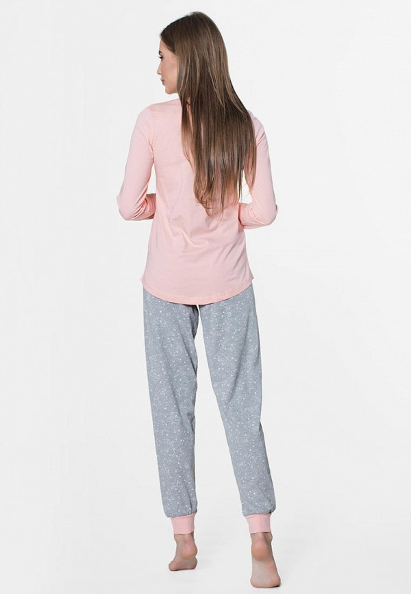Vienetta   розовый, серый Женский домашний костюм Vienetta   Clouty