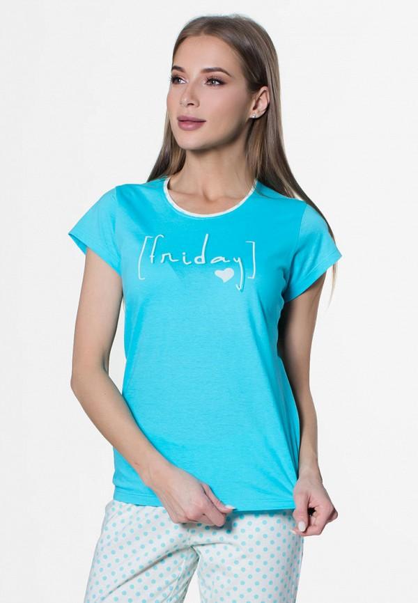 Vienetta | белый, голубой Женский домашний костюм Vienetta | Clouty