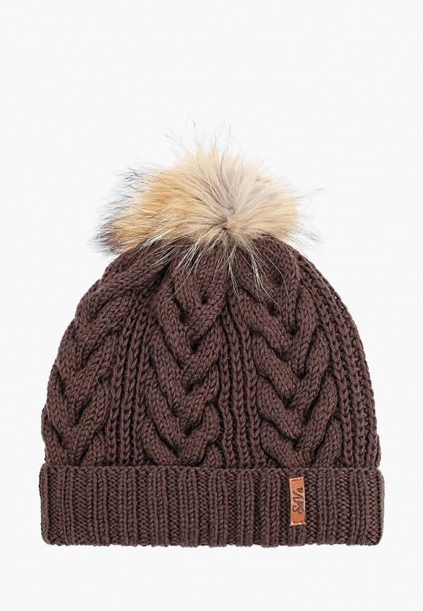 Sava Mari   коричневый Женская зимняя коричневая шапка Sava Mari   Clouty