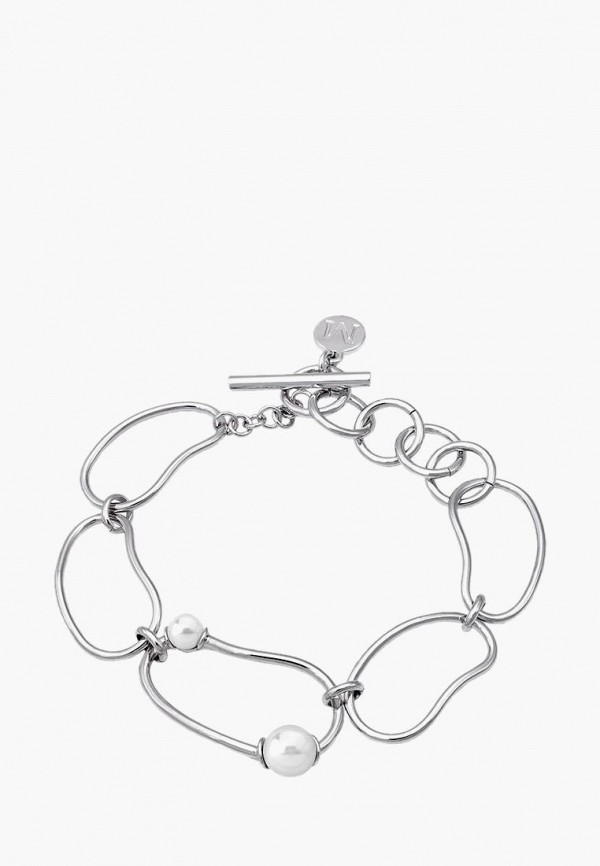 Majorica | белый, серебряный Женский браслет Majorica | Clouty