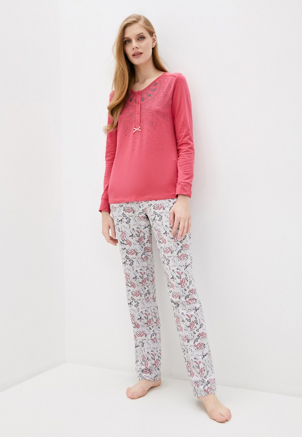 Relax Mode | серый, розовый Женская пижама Relax Mode | Clouty