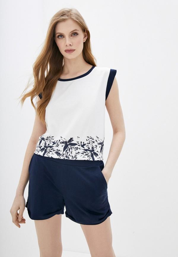 Relax Mode | синий, белый Женский домашний костюм Relax Mode | Clouty